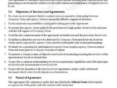 writing service level agreement
