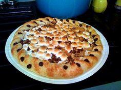 Reall about pizza recipes with biscuits. Smores Dessert, Tiramisu Dessert, Dessert Pizza, Breakfast Dessert, Dessert Bars, Camping Desserts, Small Desserts, Great Desserts, Delicious Desserts