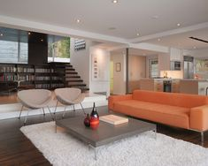 Modern Living Room Open Layout Design, Pictures, Remodel, Decor and Ideas - page 8