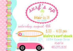 Image result for beach party invitations