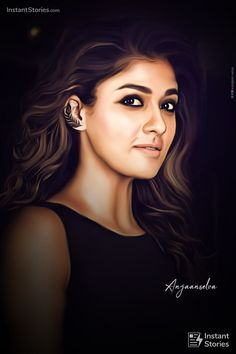 Nayanthara Hairstyle, Samantha Images, Girl Face Drawing, Actor Picture, Celebrity Drawings, Actors Images, Stylish Girl Pic, Most Beautiful Indian Actress, Beautiful Girl Image