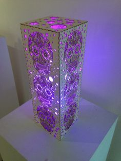Purple Sugar Skull Lamp! Gorgeous!
