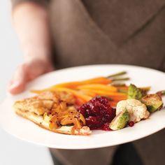 Orange juice helps sweeten up the tart cranberries.
