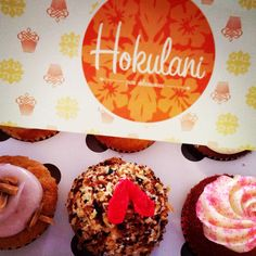A great new find on O'ahu. Lilikoi and strawberry guava cupcakes! Guava Cupcakes, Strawberry Guava, Ohana, Coffee Shop, Muffin, Vacation, Baking, Eat, Breakfast