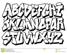 Classic Street Art Graffiti Font Type Alphabet - Download From Over 33 Million High Quality Stock Photos, Images, Vectors. Sign up for FREE today. Image: 35185186