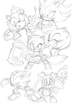 Amy shadow and cream Sonic The Hedgehog, Shadow The Hedgehog, Animal Drawings, Cute Drawings, How To Draw Sonic, Hedgehog Drawing, Shadow And Amy, Comic Tutorial, Sonic Funny