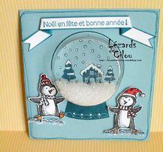 Carte Noël façon boule à neige