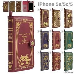 iPhone5siPhone5ciPhone5ケースディズニーOldBookCase