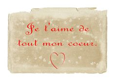 French Love Quotes  Je t'aime de tout mon coeur. I love you with all my heart.