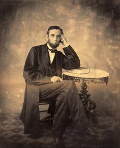 On Sunday, August 9, 1863, President Abraham Lincoln, along with his secretary John Hay, visited photographer Alexander Gardner's new Washington, D.C. studio at 7th and D Street, above Shephard and Riley's Bookstore. It was there that Lincoln, who according to Hay was in good spirits, sat for Gardner for the fourth time, producing a number of new likenesses.