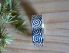 Bague Njord, bijou mythologie nordique en argent de 2 mm d'épaisseur