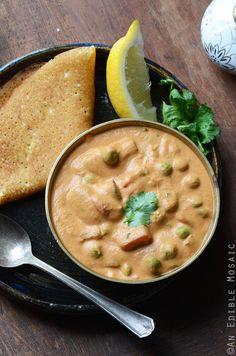 Creamy Cashew Mushroom and Green Pea Masala {Vegan}