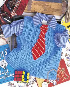 Ravelry: Little Man Vest pattern by Candi Jensen Crochet Today! May/June 2009 Crochet Today! Mens Crochet Beanie, Gilet Crochet, Knit Crochet, Crochet Hats, Baby Patterns, Crochet Patterns, Moda Crochet, Diy Vetement, Crochet Baby Clothes