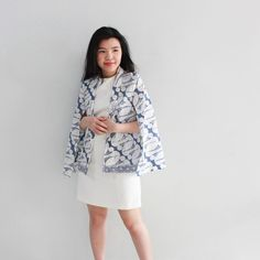 "40 Likes, 2 Comments - DXF BATIK (@dxfbatik) on Instagram: ""NEW COLLECTION: Cilia Cape Blazer. 