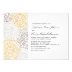 Round Medallions Wedding Invite - Apricot  Click on photo to purchase. Check out all current coupon offers and save! http://www.zazzle.com/coupons?rf=238785193994622463&tc=pin