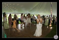 a White Tent Wedding on the Grounds of Tippecanoe Place!