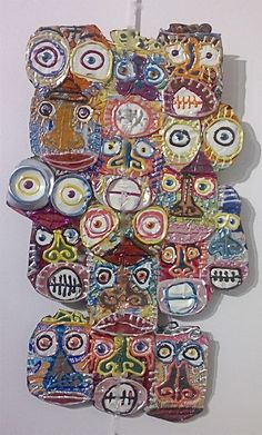 Artist Didier Triglia.... OBSESSED. I would like to do some pop can art with my 5th graders inspired by him and the idea of recycling.
