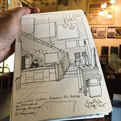 Bornga Korean Restaurant #sketch #sketching #sketchbook #sketchwalker #restaurant #quicksketch #urbansketchers #TravelSketcher