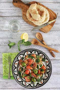 Ensalada de tomate y cebolla libanesa - No quieres caldo? ... Pues toma 2 tazas.