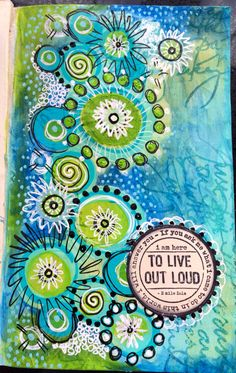 Doodling art journal page