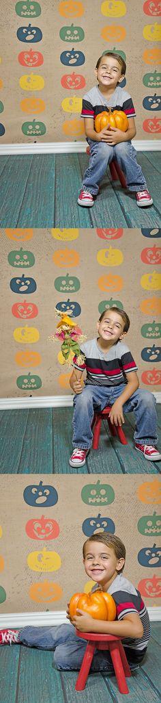 Halloween / Fall Portraits featuring Fall Jack O'Lanterns Backdrop with Green Planks Floordrop from Backdrop Express Fall Portraits, Halloween Photography, Halloween Photos, Planks, Lanterns, Backdrops, Green, Art, Art Background