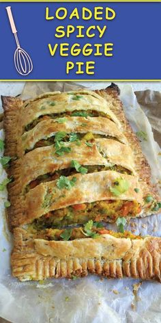 Loaded Spicy Veggie Pie Loaded Spicy Veggie Pie : This delicious cumin scented buttery crust pie filled with a mouth watering veggie filling is perfect for holiday brunches/dinners and leftovers are great for quick grab & go breakfast! Indian Food Recipes, Whole Food Recipes, Cooking Recipes, Healthy Recipes, Pasta Recipes, Healthy Food, Ella Vegan, Comida Keto, Vegan Dinners