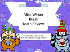 Math games that help kids review after winter break.