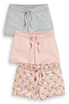 Three Pack Pink And Grey Shorts (3-16yrs) - Next - £14.50