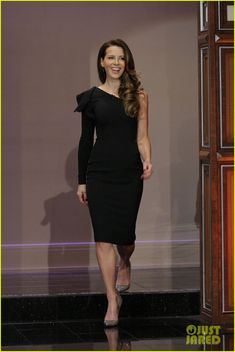 Kate Beckinsale in Elie Saab with Sutra earrings and Christian Louboutin heels