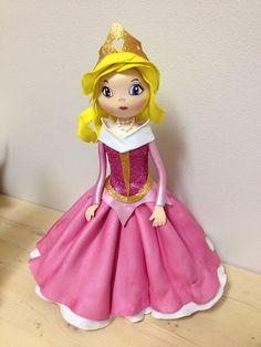 Princess Aurora  Centerpiece cake topper by SweetBellaLuna on Etsy, $48.00
