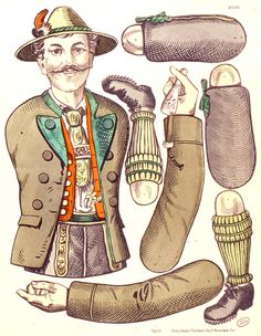 Templates for dozens of 19th century articulated paper dolls (jointed) from EKDuncan - My Fanciful Muse