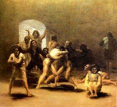 Corral de locos. Francisco de Goya y Lucientes. 1794. Localización: Museo Meadows de Arte (Dallas). https://painthealth.wordpress.com/2016/02/08/corral-de-locos/