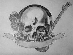 skeleton music tattoo - Google Search