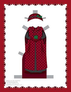 Paper Doll School: December Paper Doll -- Mrs Claus Paper Doll, Outfit 4