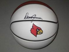 Denny Crum Signed Logo Basketball #SportsMemorabilia #LouisvilleCardinals