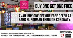 Avail Buy One Get One Free Offer at Zahr El Rouman through Kobonaty.  Download GL Deals app now to get more access to such offers! http://www.gldeals.com/myapp  #ZahrElRouman #LebaneseCuisine #Kobonaty #BuyOneGetOne #KobonatyOffer #App #MobileApp #AndroidApp #iOSApp #AppStore #PlayStore #Deals #Discounts #Offers #Cards #UAE #Like #Share #GLDeals #UAEDeals #DubaiDeals #DubaiOffers #FreeApp