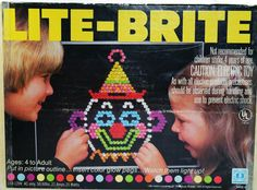 Lite-Brite: A black piece of construction paper and a hundred colored pegs.hours of fun childhood,history,My childhood,Old School, Lite Brite, 90s Childhood, My Childhood Memories, Sweet Memories, Childhood Friends, Ed Vedder, Barbie, Pac Man, I Remember When