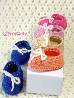 Crochet baby shoes Pregnancy reveal Grandparent by ColorificThings