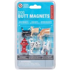 These unique dog magnets may not sit when you tell them to or fetch the paper, but they will stay. Now a Scottie, Pug, Retriever, Dalmatian, Poodle and fire hydrant will keep your things up on the fil