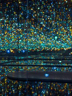 Yayoi Kusama: David Zwirner gallery in Chelsea NY - Installation, Infinity Mirrored Room – The Souls of Millions of Light Years Away Infinity Mirror Room, Infinity Room, Yayoi Kusama, Light Year, Mirror Art, Light Painting, Architecture, Installation Art, Pop Art