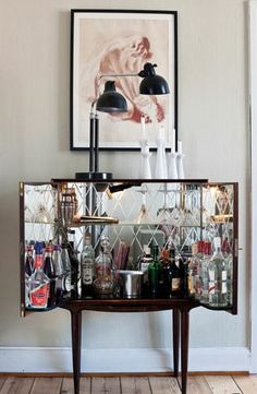 #home #mini #bar #interior #design That's super cute, but it looks like my 1 year old could knock it right over.