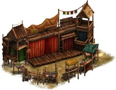 Forge Of Empires Medieval Theatre, Forge Of Empire, Minecraft City Buildings, Buildings Artwork, Fantasy Town, Isometric Art, Building Concept, Fantasy Places, Fantasy Miniatures