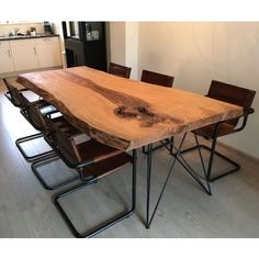 Boomstamtafel Eiken Dining Table, Furniture, Home Decor, Decoration Home, Room Decor, Dinner Table, Home Furnishings, Dining Room Table, Home Interior Design