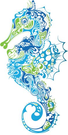 Image result for seahorse print