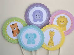 Baby Jungle or Zoo Animals Cupcake Toppers/ Set of Cute First Birthday or Baby Shower Decorations via Etsy will change the colors a bit- but these will work cute Baby Zoo Animals, Safari Animals, Baby Boy Shower, Baby Shower Gifts, Zoo Animal Cupcakes, Safari Theme, Animal Party, Cupcake Toppers, Cupcake Ideas