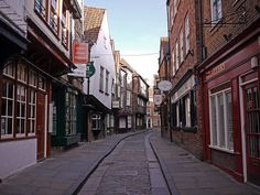 The Shambles, in York England. One of Britain's best-preserved streets.