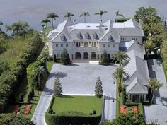 This investment grade opportunity is at the top of its asset class and is located in Palm Beach, America's most prestigious resort. Simply one of the most beautiful and exclusive waterfront estate homes ever built on the Island of Palm Beach. Foyers, Beach Mansion, Versace Home, Versace Mansion, Waterfront Property, Expensive Houses, Palm Beach County, Modern Exterior, My Dream Home