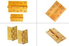 Brass Hinges #BrassHinges Brass Door Knocker, Brass Hinges, Door Knockers, Brass Hardware, Gate Hinges, Kitchen Cabinets Hinges, Antique Brass