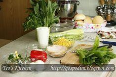 Salata de leurda si sos de sana - Retete culinare by Teo's Kitchen Healthy Salad Recipes, Table Decorations, Kitchen, Home Decor, Salads, Baking Center, Cooking, Room Decor, Kitchens