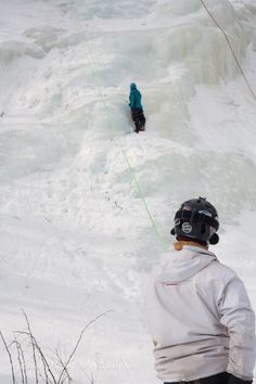 Ice Climbing and belaying